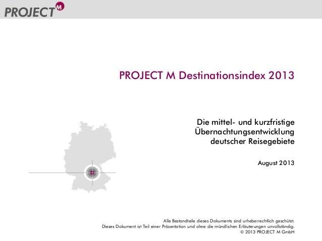 PROJECT M Destinationsindex 2013