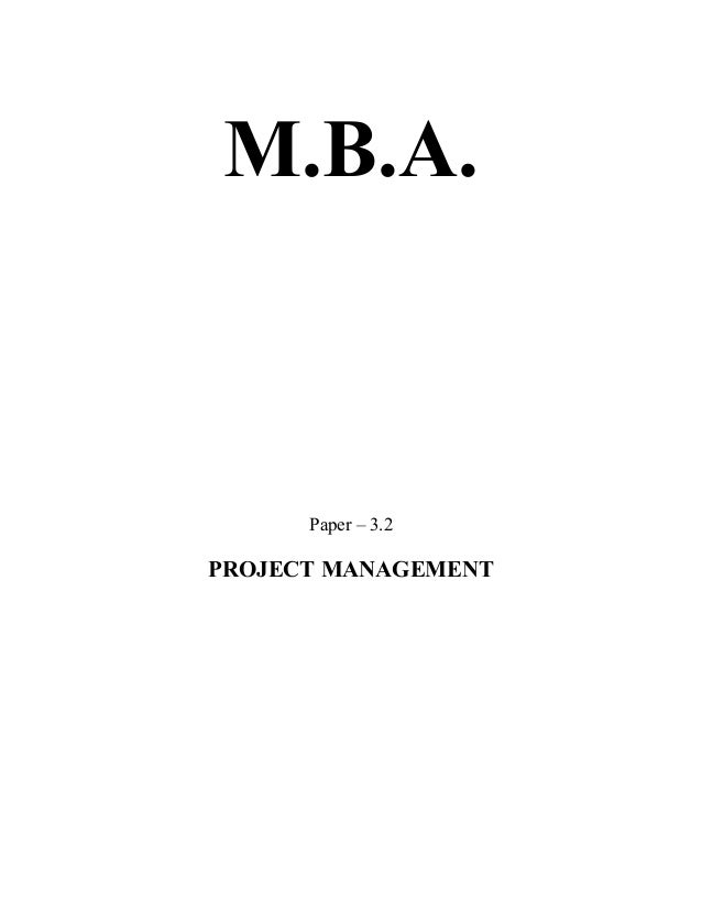 Project management book for mba