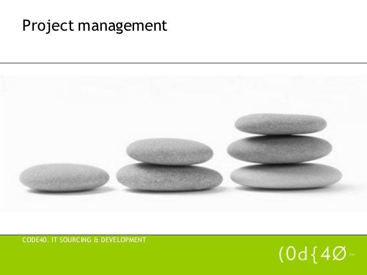 Prezentare Project Mangement - Code40 - Odo
