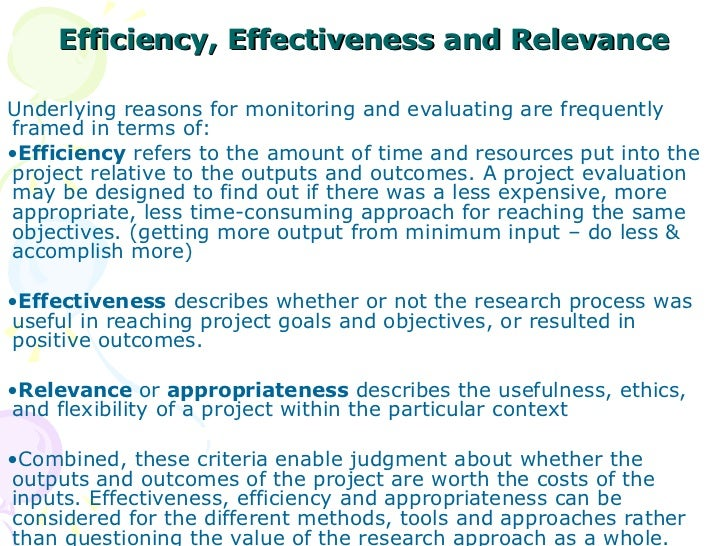 the difference between efficiency and effectiveness What is the difference between efficiency and effectiveness marketing measures efficiency vs effectiveness definition & explanation i think many would think the meaning of efficiency and effectiveness are similar terms for describing the performance of a business process.
