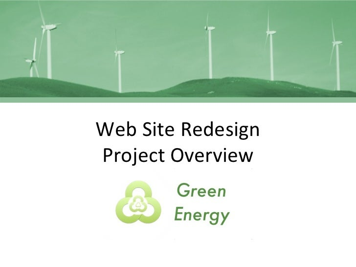 Web Site Redesign Project Overview