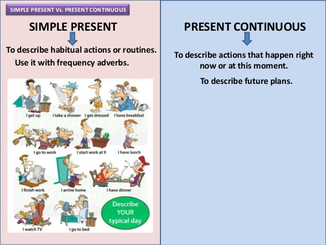 Course 4-Unit 10: Simple present vs. present continuous
