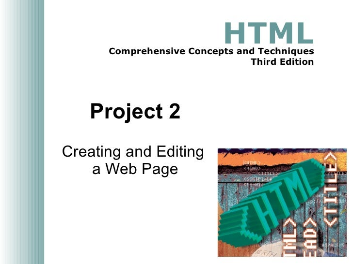 Project 02 Creating and Editing a Web Page