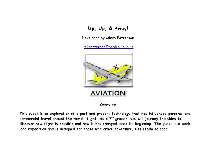 Up, Up, & Away!                                   Developed by Mindy Patterson                                     mkpatte...
