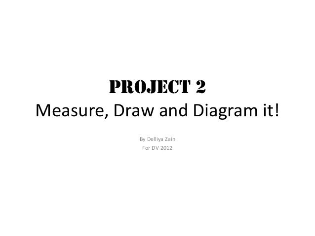 Project 2 Measure, Draw and Diagram it! By Delliya Zain For DV 2012