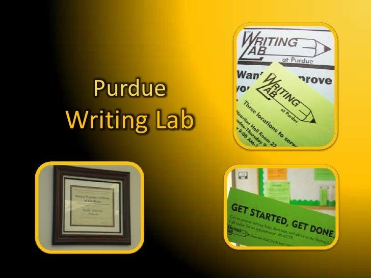 Purdue Writing Lab<br />