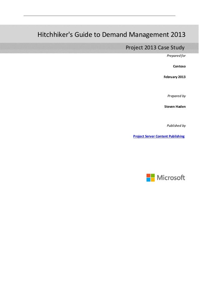 Microsoft Project 2013 Demand Management Guide