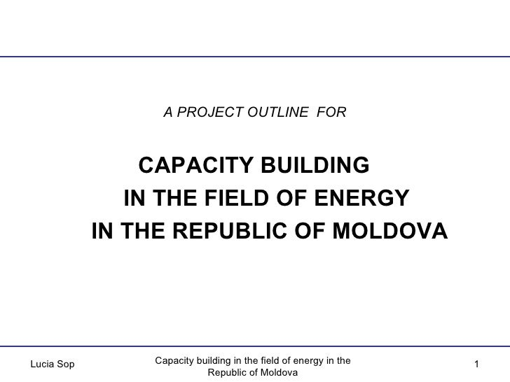 A PROJECT OUTLINE  FOR   CAPACITY BUILDING  IN THE FIELD OF ENERGY  IN THE REPUBLIC OF MOLDOVA