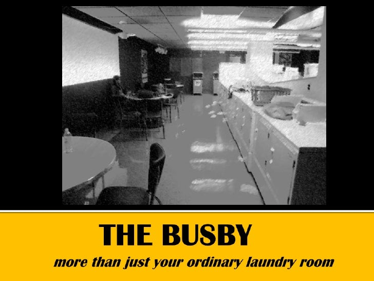 THE BUSBYmore than just your ordinary laundry room<br />