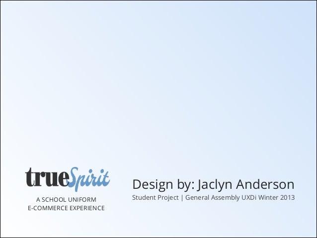 True Spirit Website. UXDi Student Project