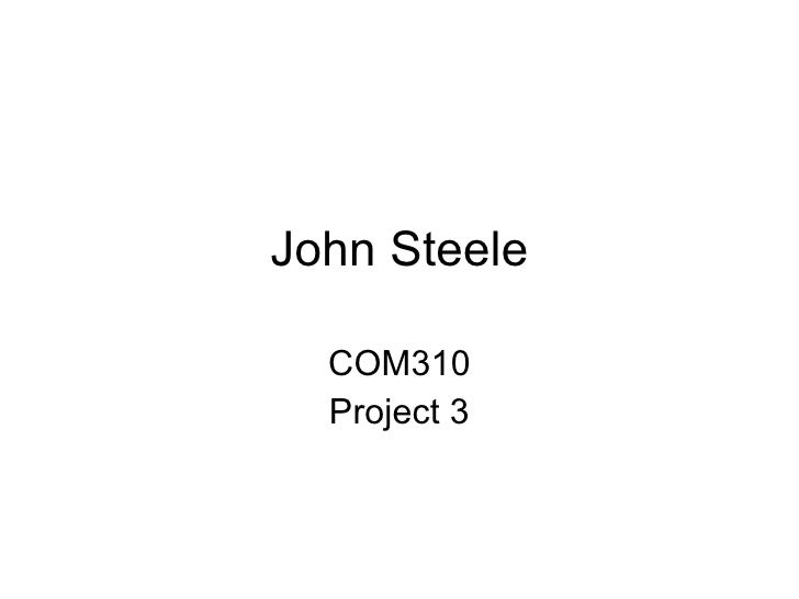 Project3 J Steele