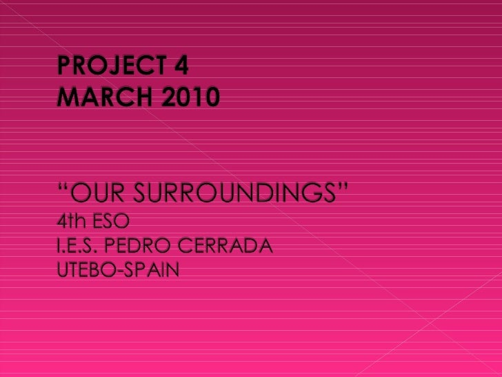 Project 4 our_surroundings