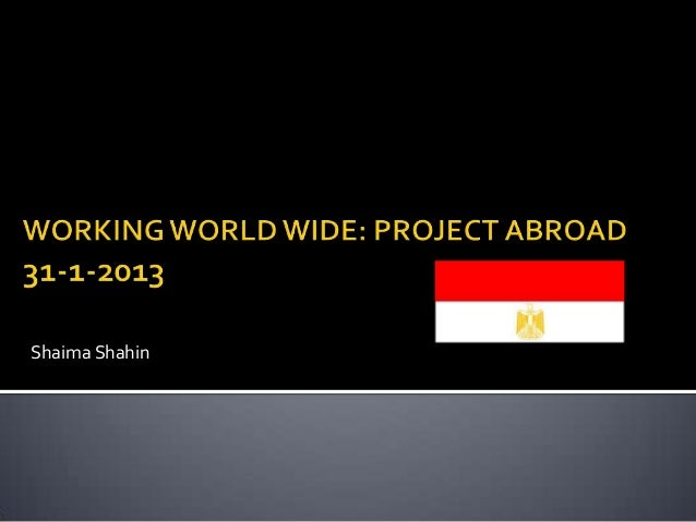 Project abroad egypt