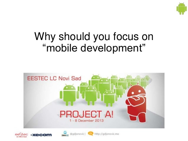 """Why should you focus on """"mobile development"""""""