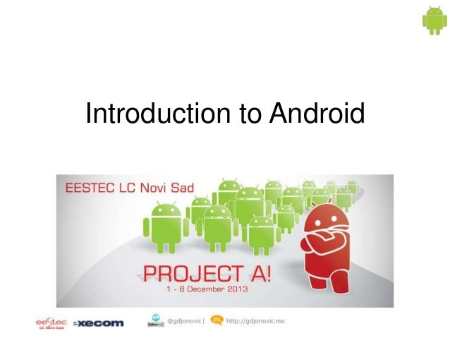 Project a day 1   introduction to android