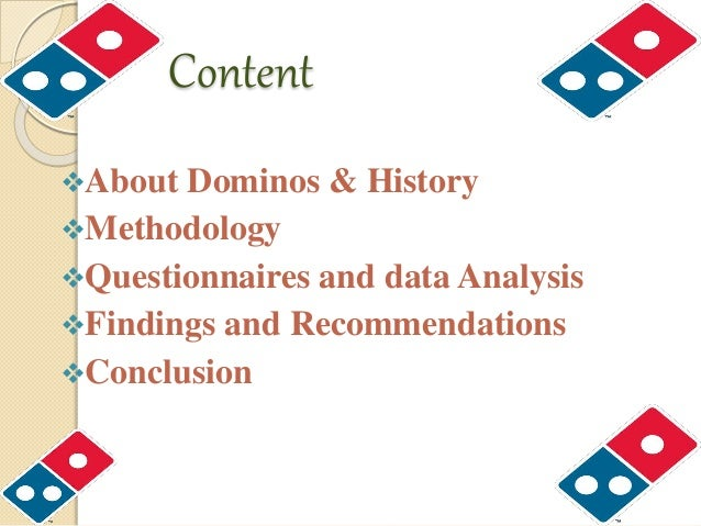dominos history and analysis Domino's profile (history and background)  ii chapter i introduction  history & background 1 ii analysis of current operations.