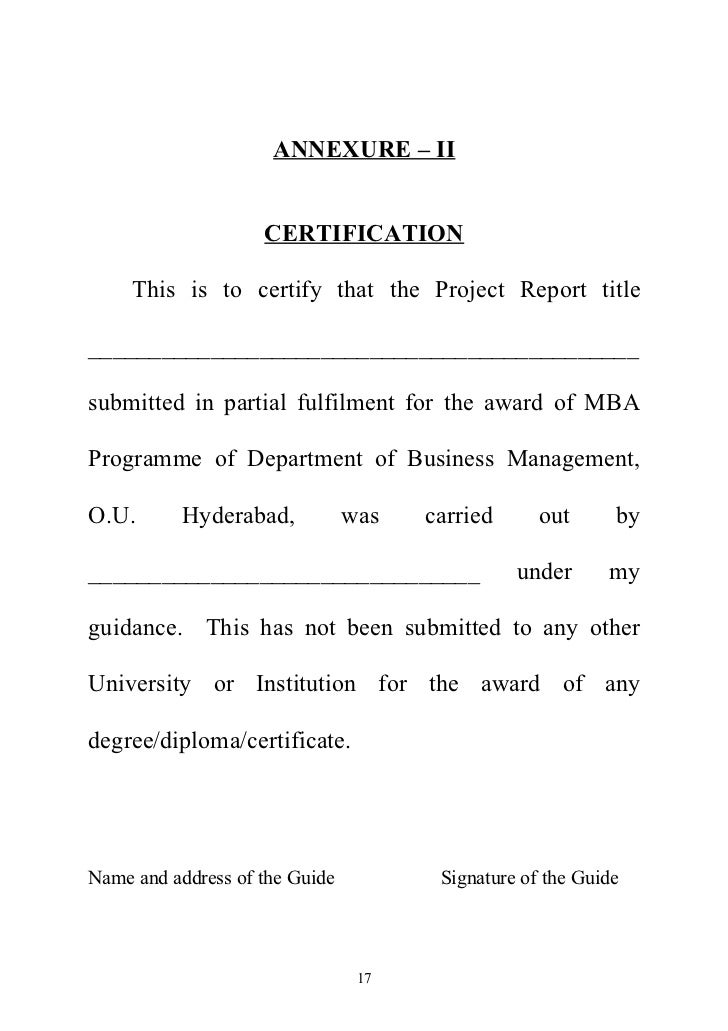 Sample Mba Dissertation Mba Dissertation Proposal Example