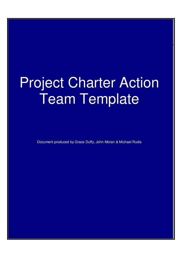 Project Charter Action Template CG1AppFt