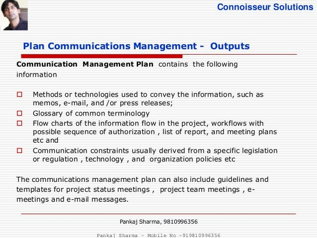 Project communications management (PMBOK 5th Edition)