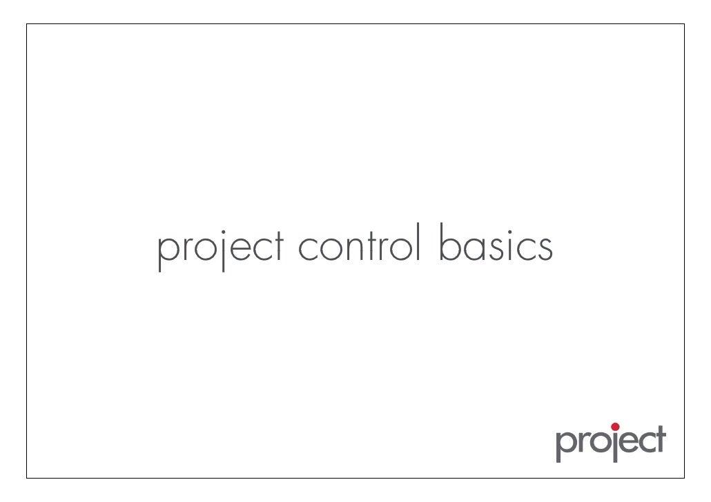 project control basics