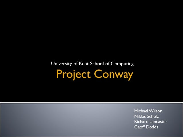 DigiProject Conway the software