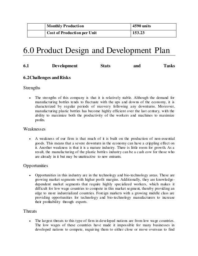 Company Description Business Plan Example