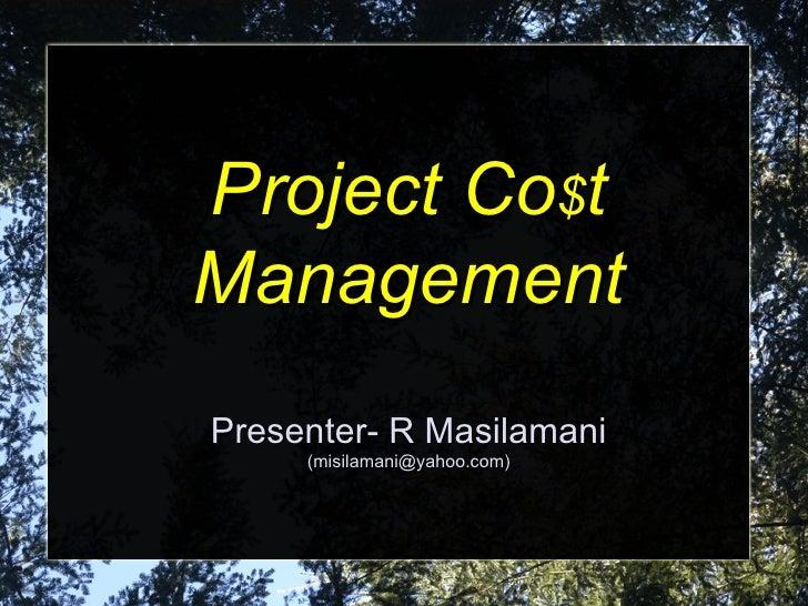 Project cost management-slides