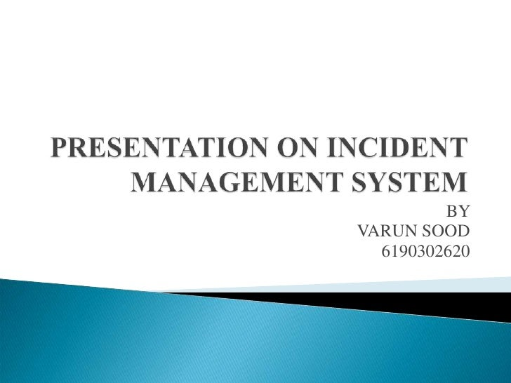 Project Description Of Incident Management System Developed by PRS (CRIS) , NEW DELHI BY VARUN SOOD