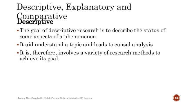 Descriptive research methods