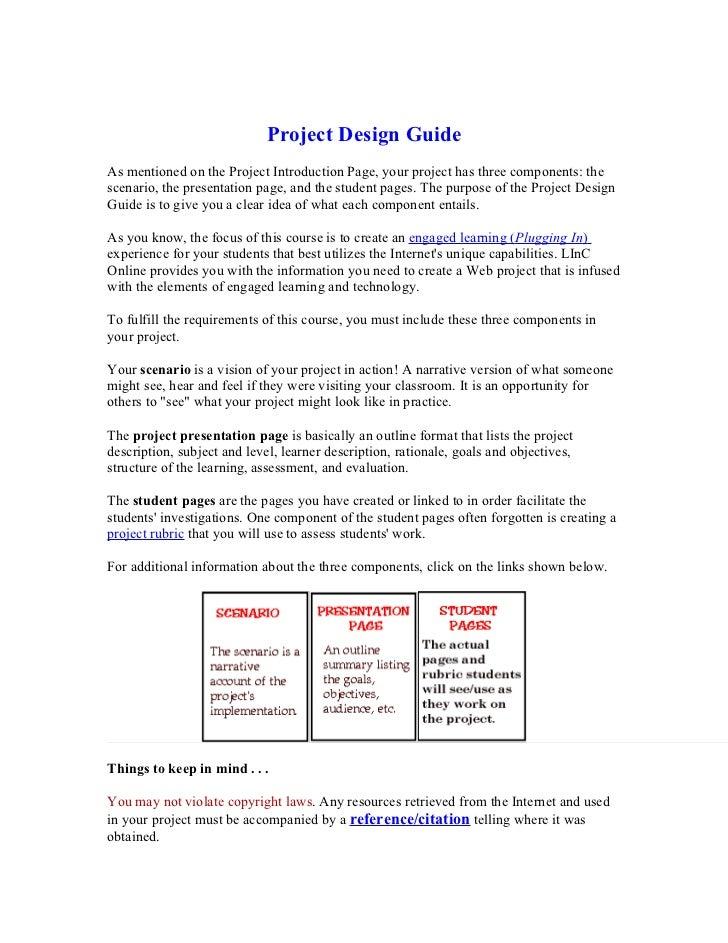 Project design guide