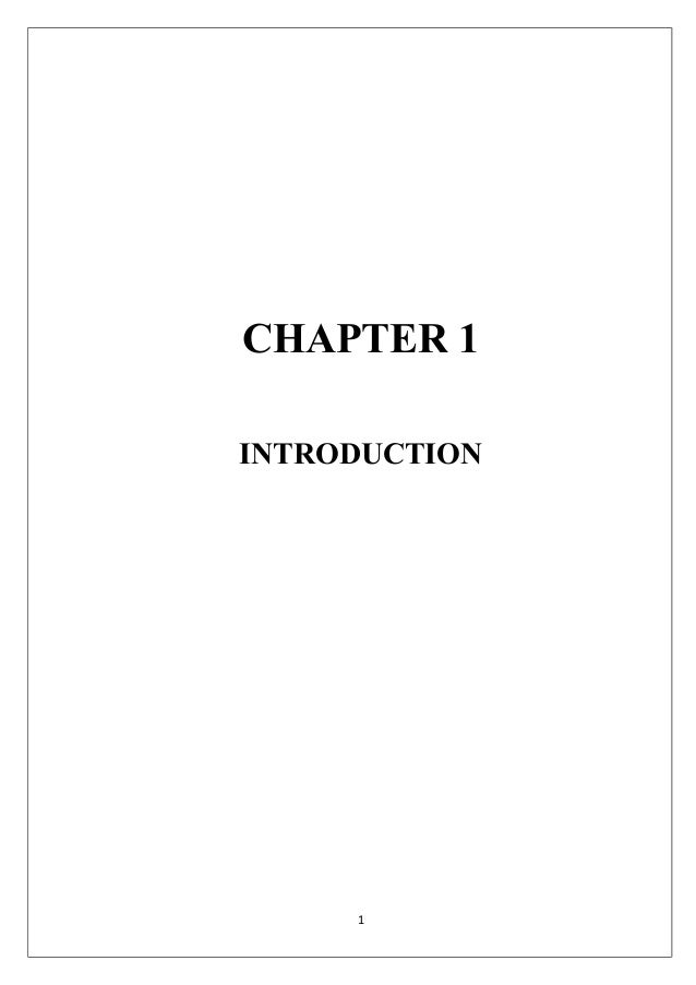 CHAPTER 1INTRODUCTION     1