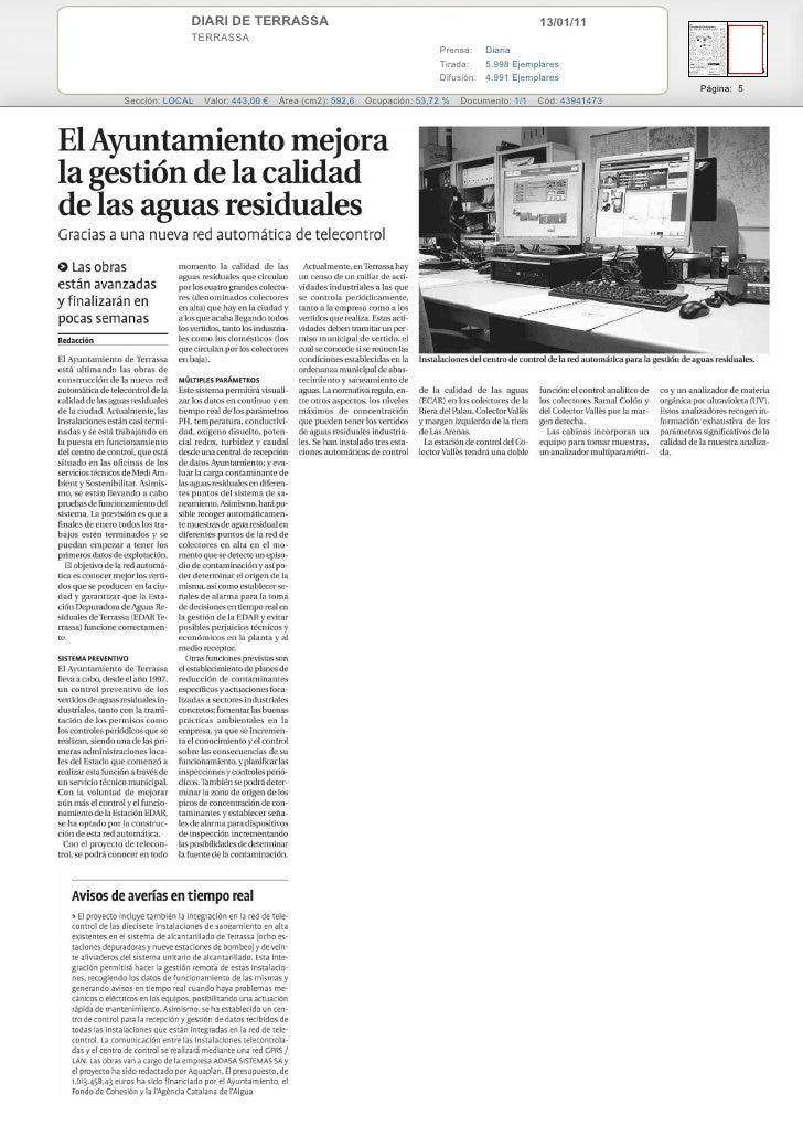 DIARI DE TERRASSA                                                               13/01/11             TERRASSA             ...
