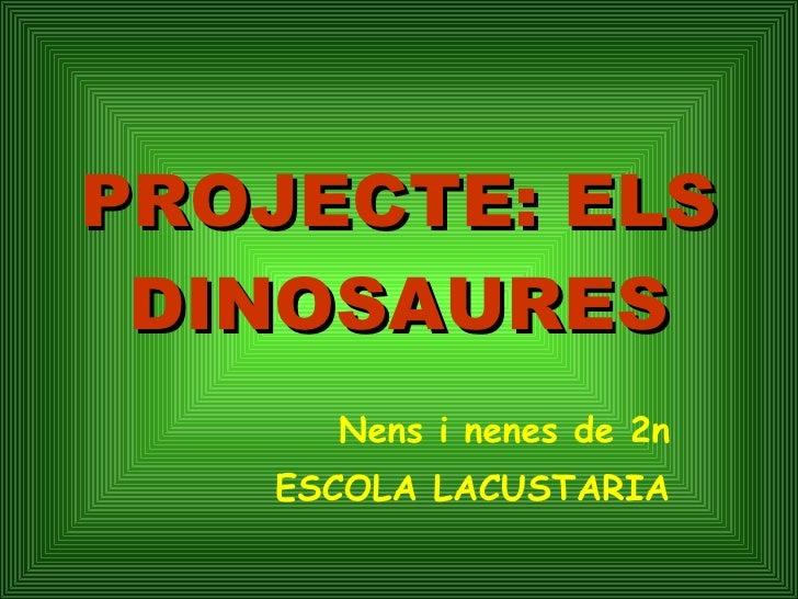 Projecte dinosaures de 2n