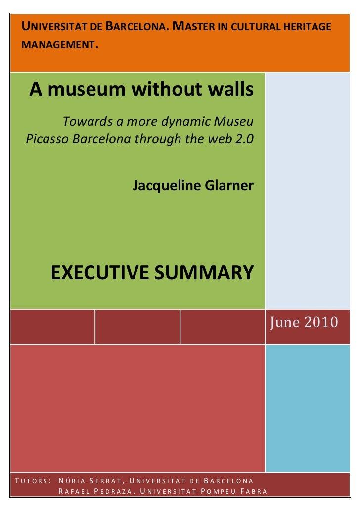 Towards a more dynamic Museu Picasso Barcelona through the web 2.0.