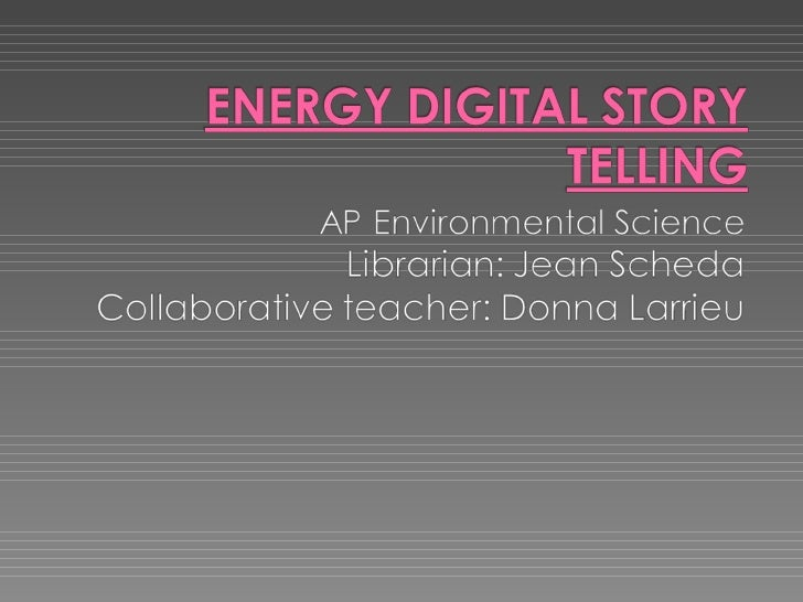 "Project ELITE ""Energy"" Collaboration PowerPoint"