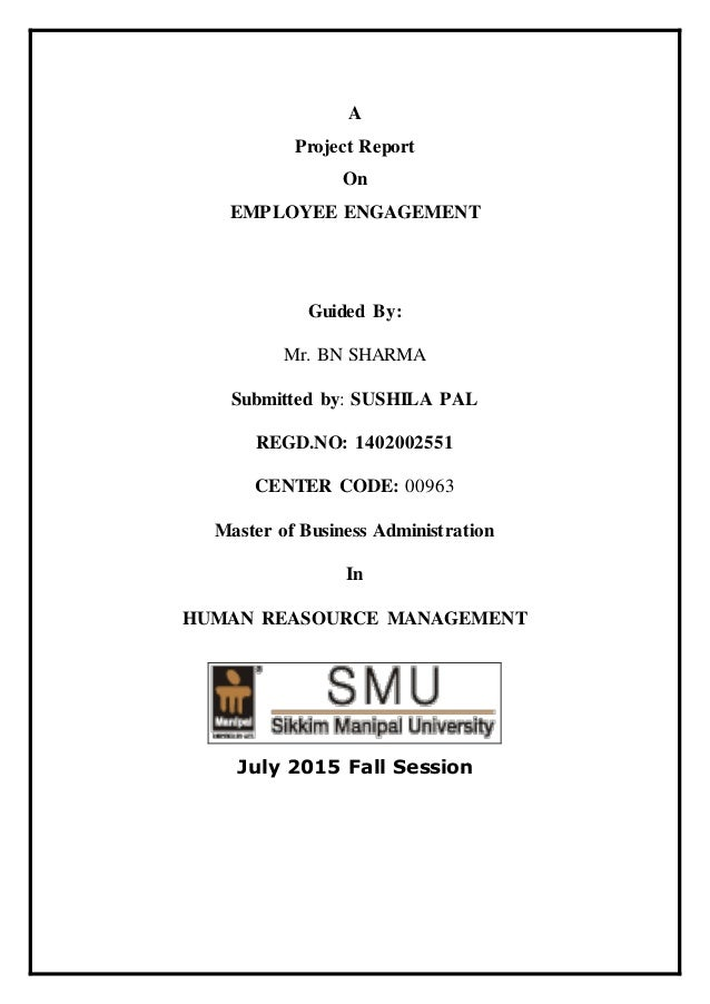 Dissertation project on employee engagement