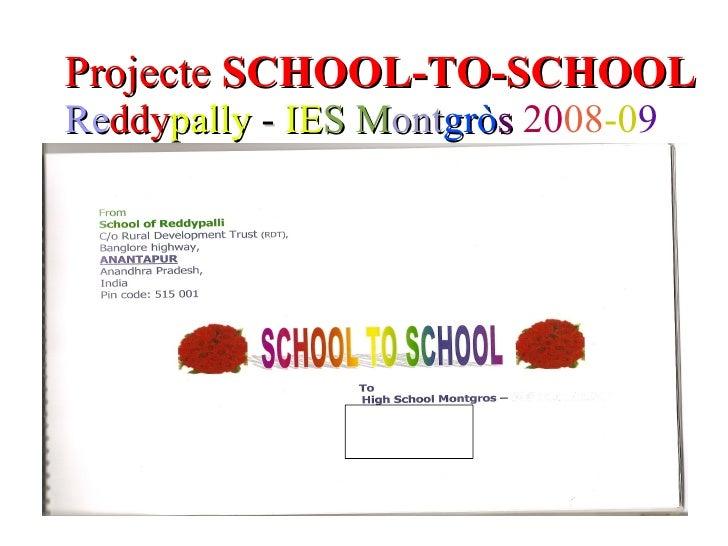 Projecte School To School 08 09