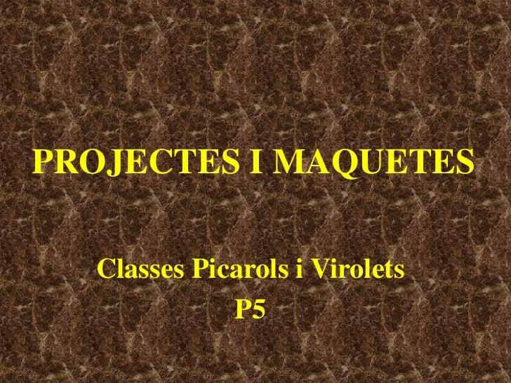 Projectes i Maquetes