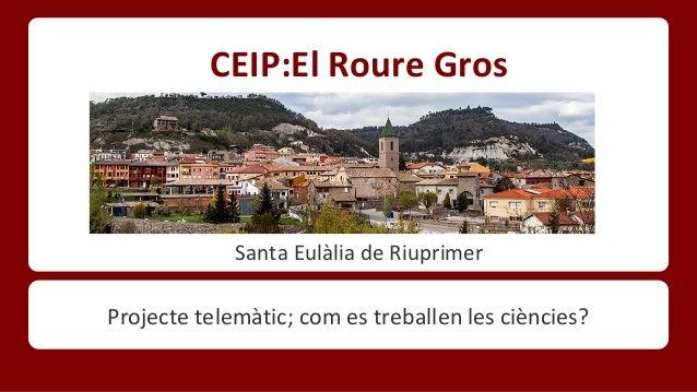 CEIP:El Roure Gros  Santa Eulàlia de Riuprimer  Projecte telemàtic; com es treballen les ciències?