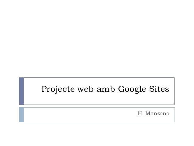 Projecte web amb google sites
