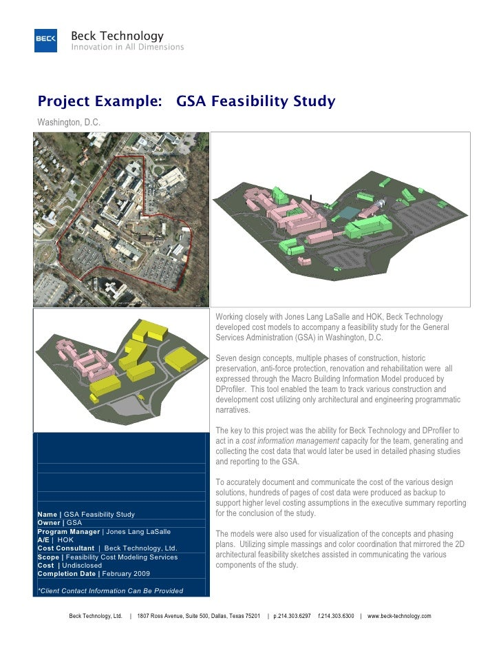 Project Example: GSA Feasibility StudyWashington, D.C.                                                                 Wor...