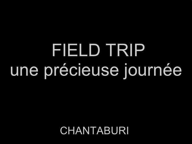 FIELD TRIP une précieuse journée CHANTABURI
