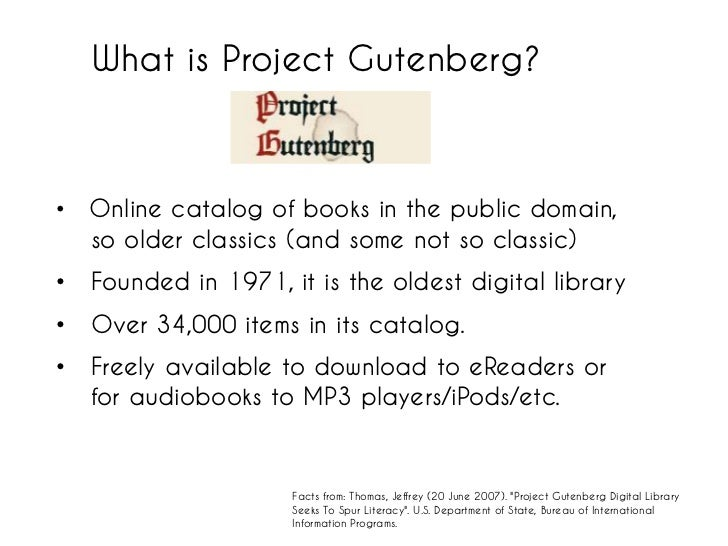 Project gutenberg books