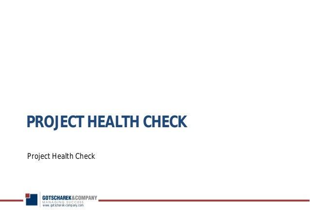 Project Health Check