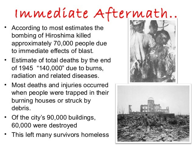 devastating consequences of the atomic bomb in hiroshima and nagasaki Why do people each year commemorate the atomic bombings of hiroshima and nagasaki  hiroshima and nagasaki had devastating  in the hiroshima a-bomb.