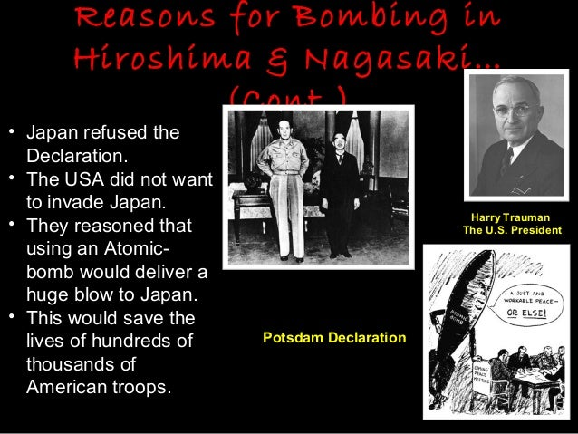 atomic bombs justified essay Was america justified in dropping the atom bomb on hiroshima in august 1945 the atomic bomb was dropped on 6th august 1945 on hiroshima and on 9th august on nagasaki, japan by the order president of america, harry s truman these two events are the only use of nuclear weapons in history up to date .