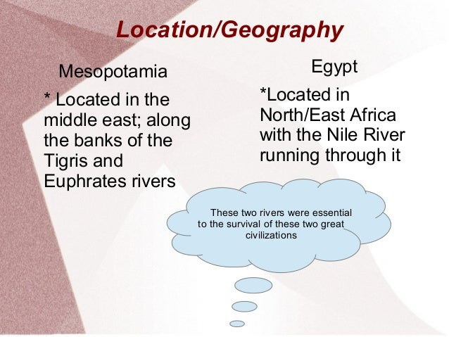 Comparison Between Mesopotamia and Egypt