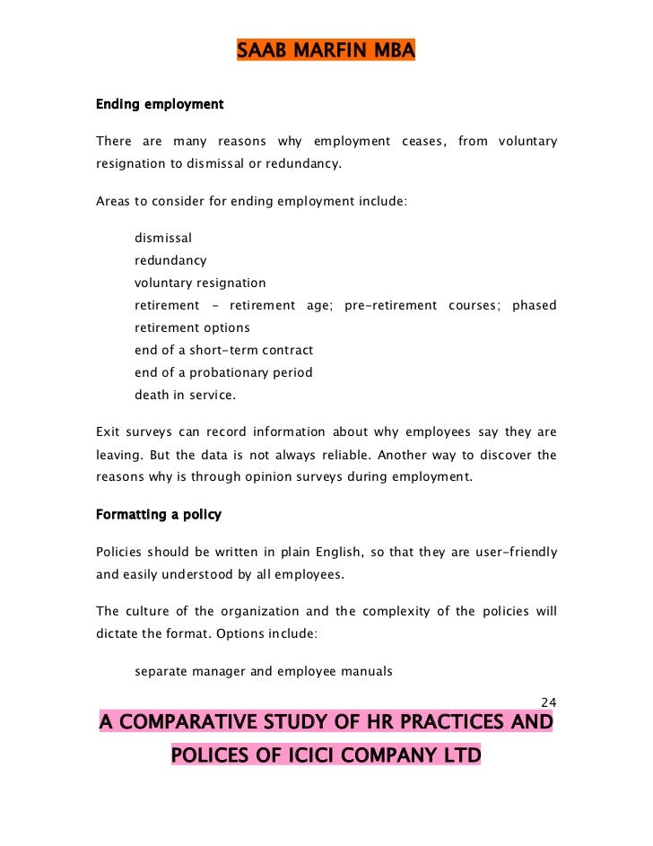comparative study of hr practices in