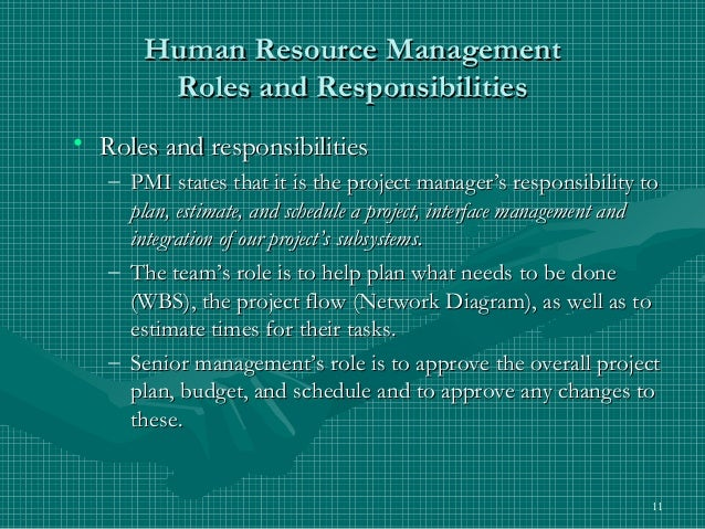 human resources management roles and responsibilities paper