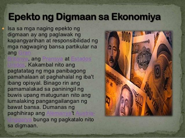 epekto ng globalisasyon sa ibang bansa Ang globalisasyon ay ang kaparaanan kung paano nagiging global o  pangbuong mundo ang mga lokal o pampook o kaya pambansang mga gawi o  paraan.
